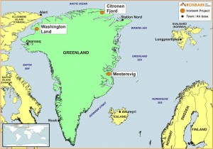 Greenland Project Location Map